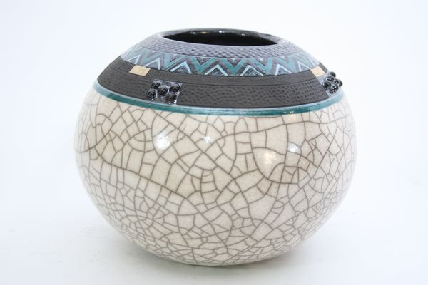 Ceramica Raku artesania de africa. cerámica vasija cerámica raku. zulú pot