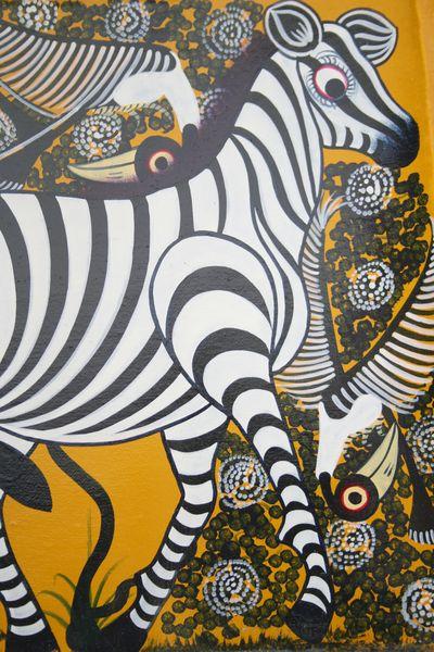 Artesania de Africa  Pinturas y grabados pintura naif en